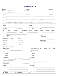 medical patient registration form new patient registration form expin franklinfire co
