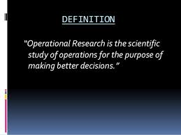 Operational Reseach Ppt
