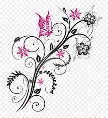 Flower And Butterfly Stencil Designs Pin By Diana Palma On Png Flower Clipart Abstract Flowers