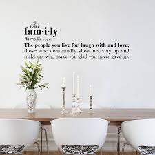 family definition wall sticker decoration