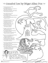 annabel lee essay essay topics annabel lee by edgar allan poe coloring page poems