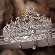 luxury upscale queen large <b>crown headdress</b> bridal <b>tiara</b> wedding ...