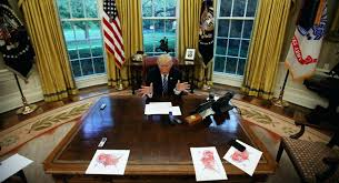 white house oval office. The Oval Office White House Us President Trump Speaks During An Interview With In Of Inside