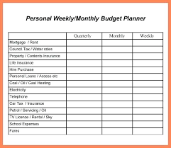 Monthly Budget Calculator Template College Personal Excel