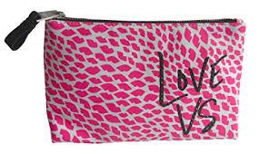 victoria s secret valentine s day um makeup bag lips love vs