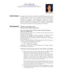 Gallery Of Sample Resume Summary