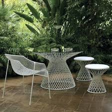 round glass outdoor table emu metal mesh glass outdoor dining table contemporary outdoor round glass patio