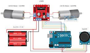 arduino dc motor control tutorial l298n pwm h bridge arduino robot car control using l298n driver circuit schematic