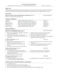 Medical Assistant Resume Template New Graduate School Resume Example Student Objective For Resume Example