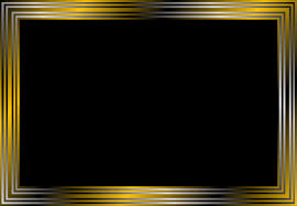 black frame. Square Gold Frame Vector PNG: And Black Clipart