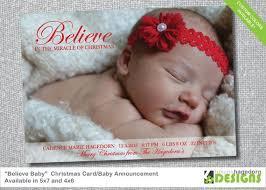 Christmas Birth Announcement Ideas Barca Fontanacountryinn Com