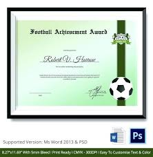 Soccer Certificate Templates For Word Soccer Certificate Word Template Acepeople Co