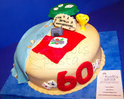 Dads 60th Birthday Cake This Is A Cake That I Designed Fo Flickr