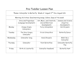 Lesson Plan Printable Template Free Lesson Plan For Toddler Blank Weekly Lesson Plan Template For