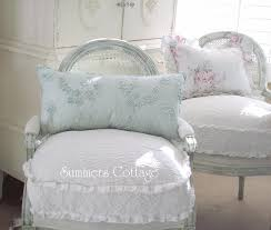 shabby lavender fluffy ruffled roses chic overstuffed chair sofa bed pillow