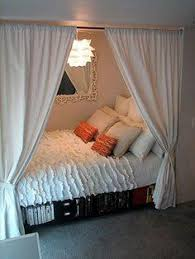 A curtain in your college dorm room can give your bed privacy and help hide  extra