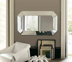 Cute Beveled Vanity Mirror On Both Sides Wall Mirrors Glass ...