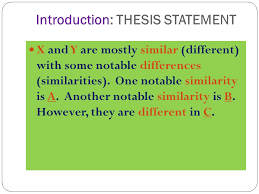 compare and contrast essay ppt video online 3 introduction thesis statement