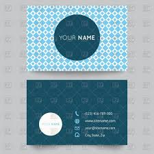 Layouts Blue Business Card Template With Blue And White Geometric Pattern Stock Vector Image