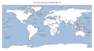 north atlantic air ferry route in world war ii the air ferry routes of wwii including north atlantic route south atlantic route and south pacific route