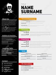 Minimalist Cv Resume Template With Simple Design Company