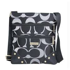 Coach Stud In Signature Small Black Crossbody Bags DQA Outlet
