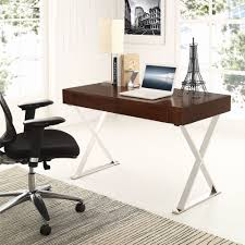modway sector office desk with stainless steel frame multiple colors walmartcom office desk walnut o23 walnut