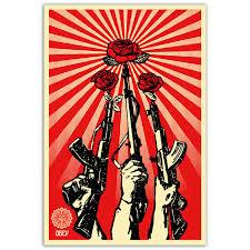 j1136 novas armas e rosas personalizado pop 14x21 24x36 polegadas art poster silk tecido topo