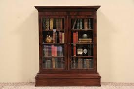 empire 1840 s antique bookcase glass doors