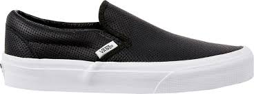 vans black and white. vans perf leather slip-on shoes black and white