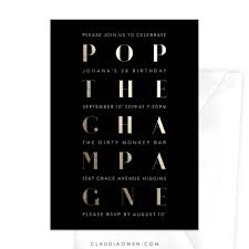 pop the chagne birthday great 21st birthday party invitations