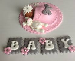 11 Letter Toppers For Baby Shower Cakes Photo Peach Baby Shower