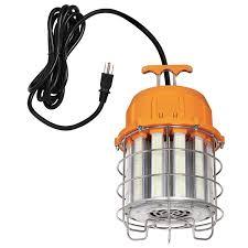 500 Watt Equivalent Led Work Light 500 Watt Equivalent Orange Finish With Chrome Cage