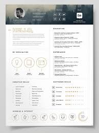 Best Free Resume Templates Fascinating 60 Best Free Resume CV Templates In Ai Indesign Word Graphic