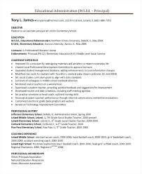 School Administrator Resume Interesting Administration Resume Template Principal Resume Template 48 Free Word