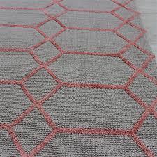 naxos c pink grey geometric rug oon