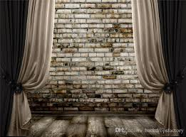 2018 black curtain stage photography backdrops brick wall wood floor studio backgrounds vintage photo booth wallpaper 10x8 ft from backdropsfactory