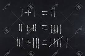 simple math equation on blackboard stock photo 18131157