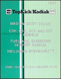 gmc c topkick service manuals shop owner maintenance and 1991 gmc topkick chevy kodiak gas fuel emissions service manual original