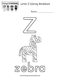 This Is A Letter Z Coloring