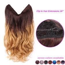 20 Multi Color Fish Line Hair Brazilian Natural Wave Full