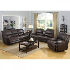 picture of prescott brown leather reclining sofa console loveseat