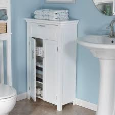 White Floor Bathroom Cabinet Riverridge Home Somerset 23 3 4 In W X 40 In H X 12 In D 2 Door