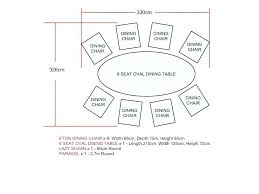 round table size for 8 table size for chairs table size for round dining table size