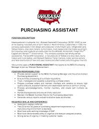 Purchasing Assistant Resume Sample Purchasing Assistant Resume shalomhouseus 1