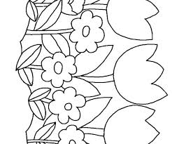 Small Flower Coloring Pages Printable Book Of Flowers Pictures Great