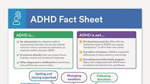 Adhd Symptoms Chart Adhd Fact Sheet