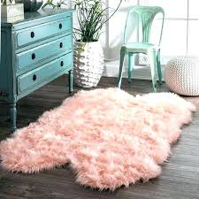hot pink faux sheepskin rug dining room rugs country light