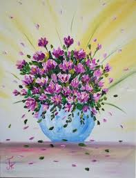 oil painting flowers in vase paintings expressionism impressionism botanical daily life