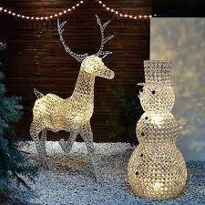 outdoor reindeer lights john outdoor led standing reindeer light white large outdoor reindeer family outdoor reindeer lights